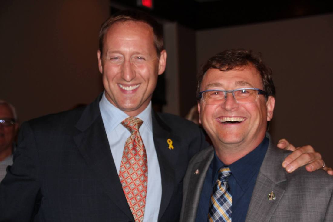 Mike and Peter MacKay in Burlington Fall 2014