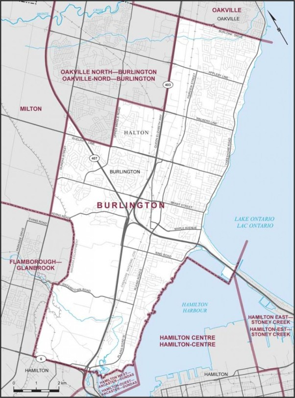 Burlington Riding Map