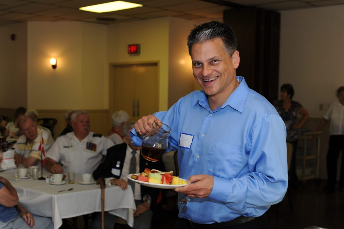 Hungry Ron at BCA Veterans' Breakfast 2016