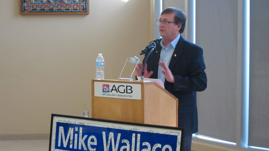 Mike thanking his election volunteers Feb. 2016