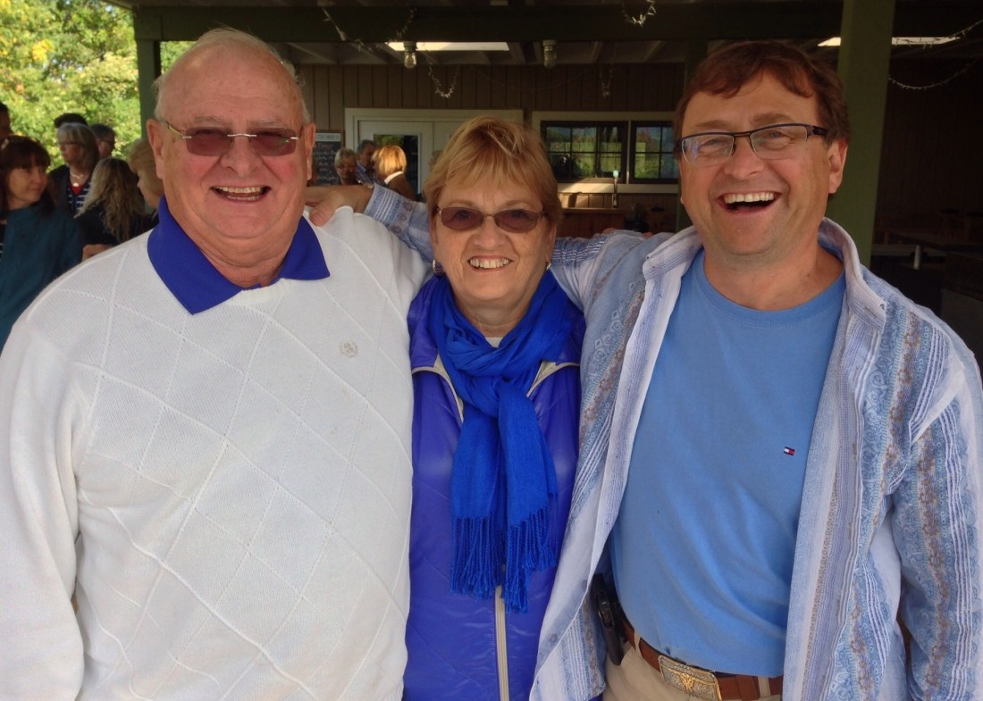 Mike with his mom & dad on 2014 Wine Tour
