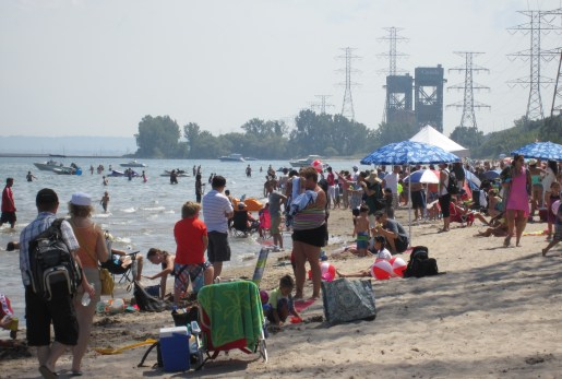 It was people, people, people - for almost as far as the eye could see along the Beachway.