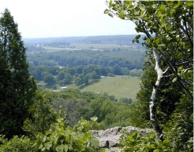 Escarpment - view to fields