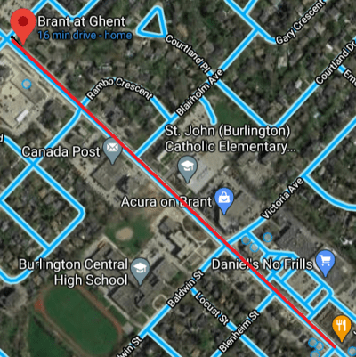 Brant street map