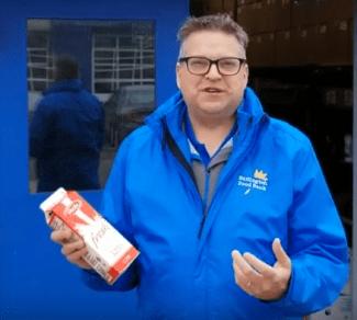 Robin Food Bank with milk