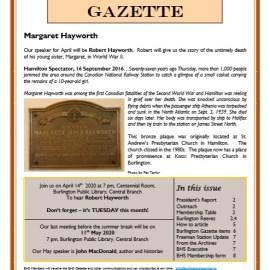 April 2020 Gazette