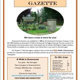 October 2020 Gazette