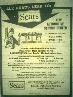 Sears Auto Center Burlington MA
