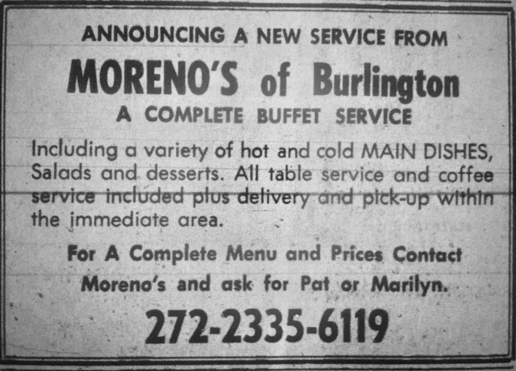 Moreno's of Burlington, MA