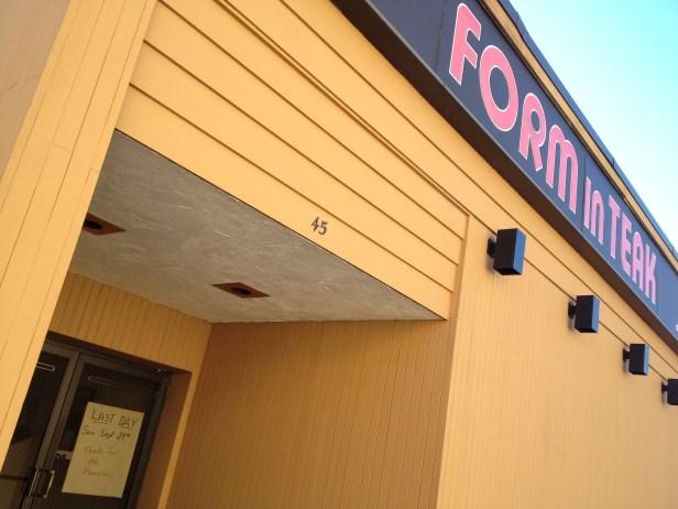 Form In Teak closing, Burlington MA