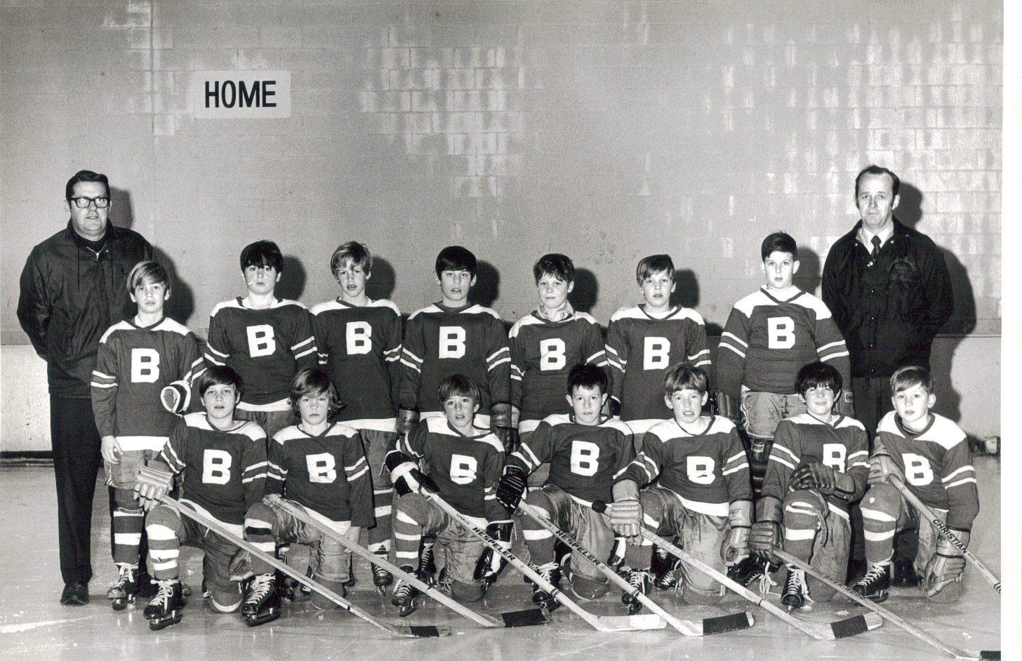 Burlington, MA youth hockey 1969-70