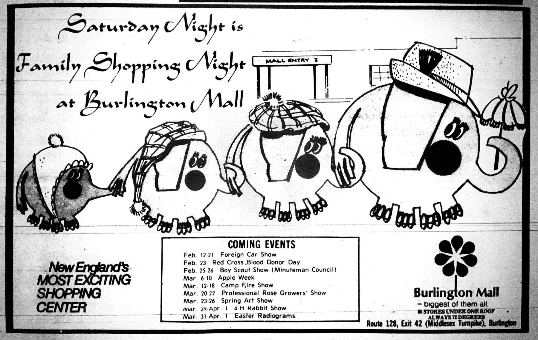 Burlington Mall ad early 1970s