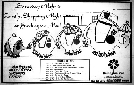 Burlington Mall ad early 1970s