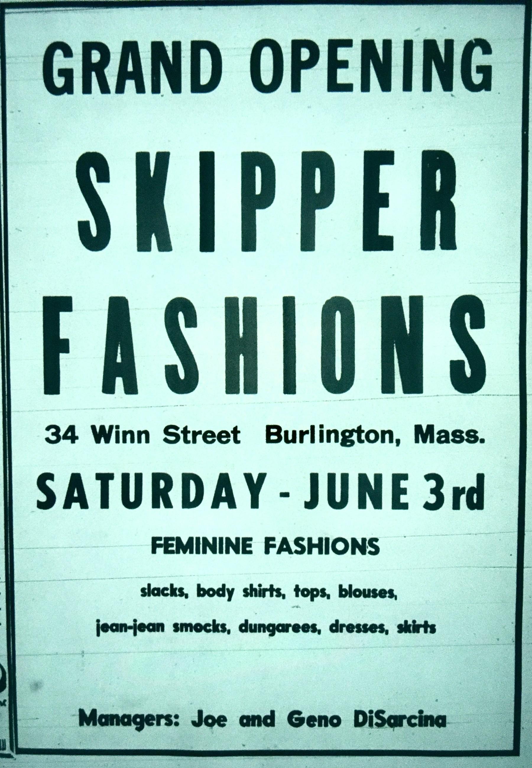 Skipper Fashions, Burlington MA