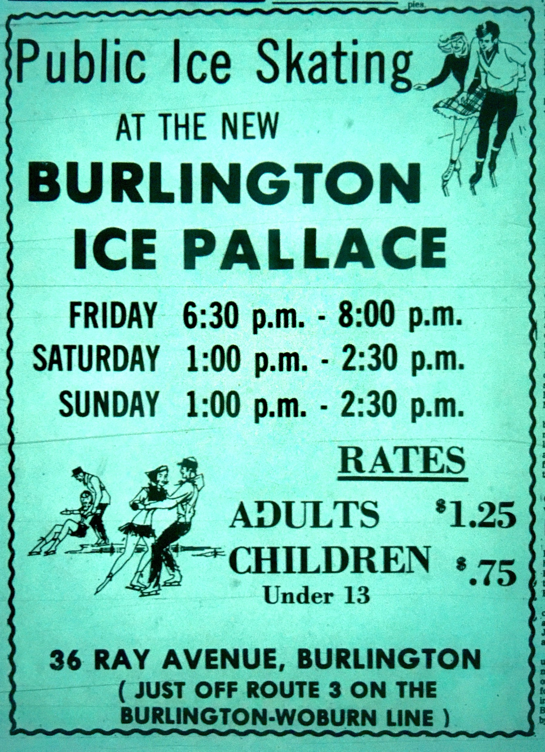 Ice Palace grand opening Burlington MA