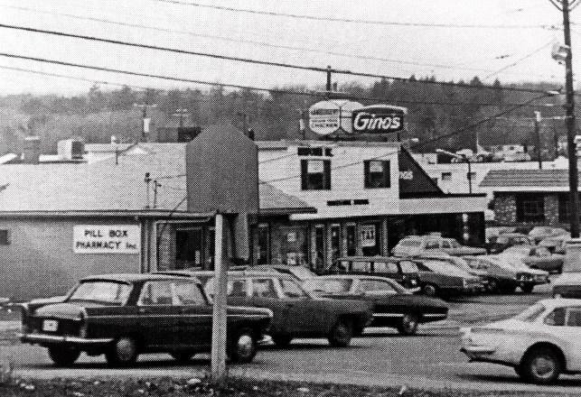 Gino's restaurant, Burlington MA mid early 1970s