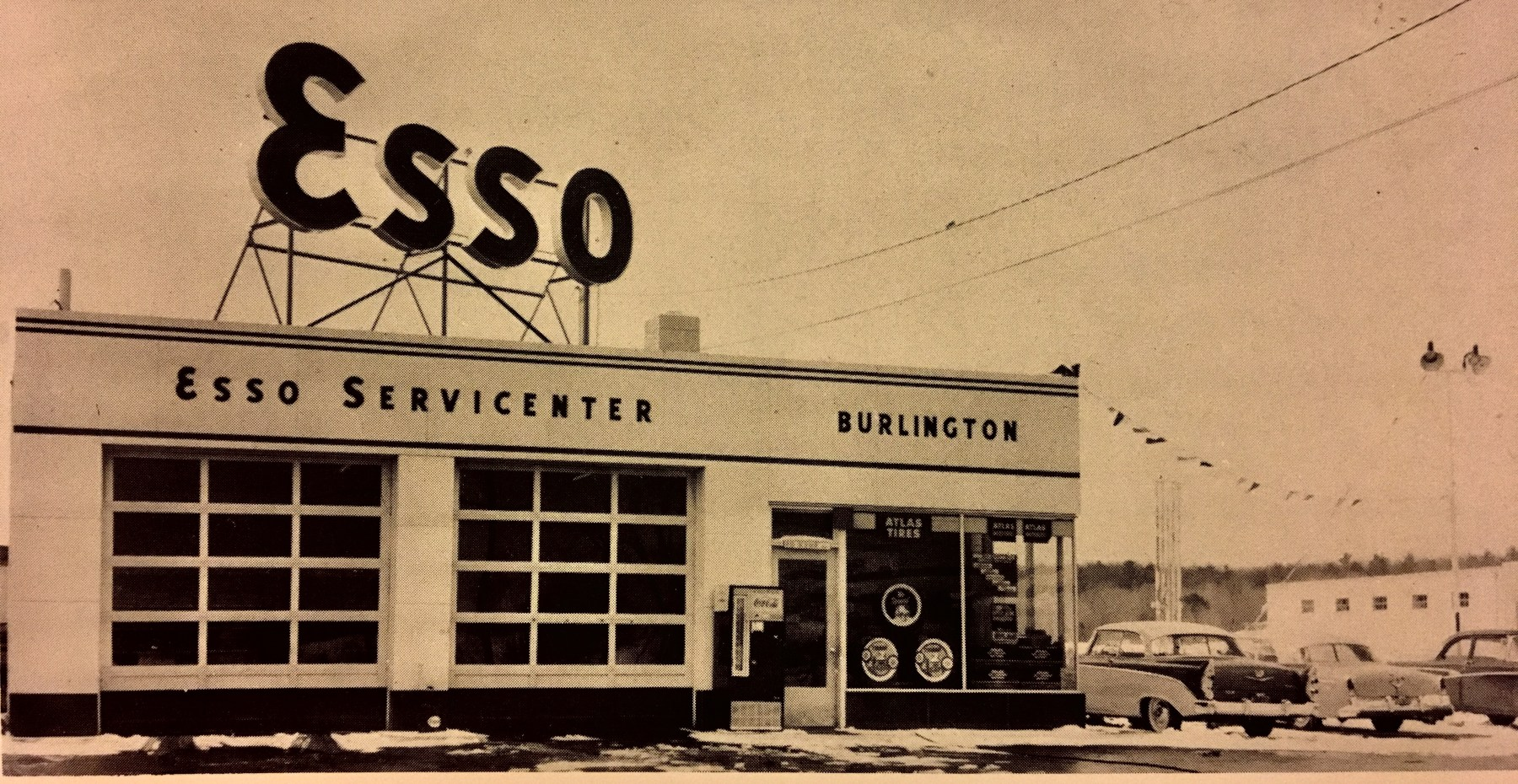 Esso station, Burlington MA late 1950s