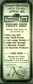 Pepperidge Farm Thrift Shop Burlington MA