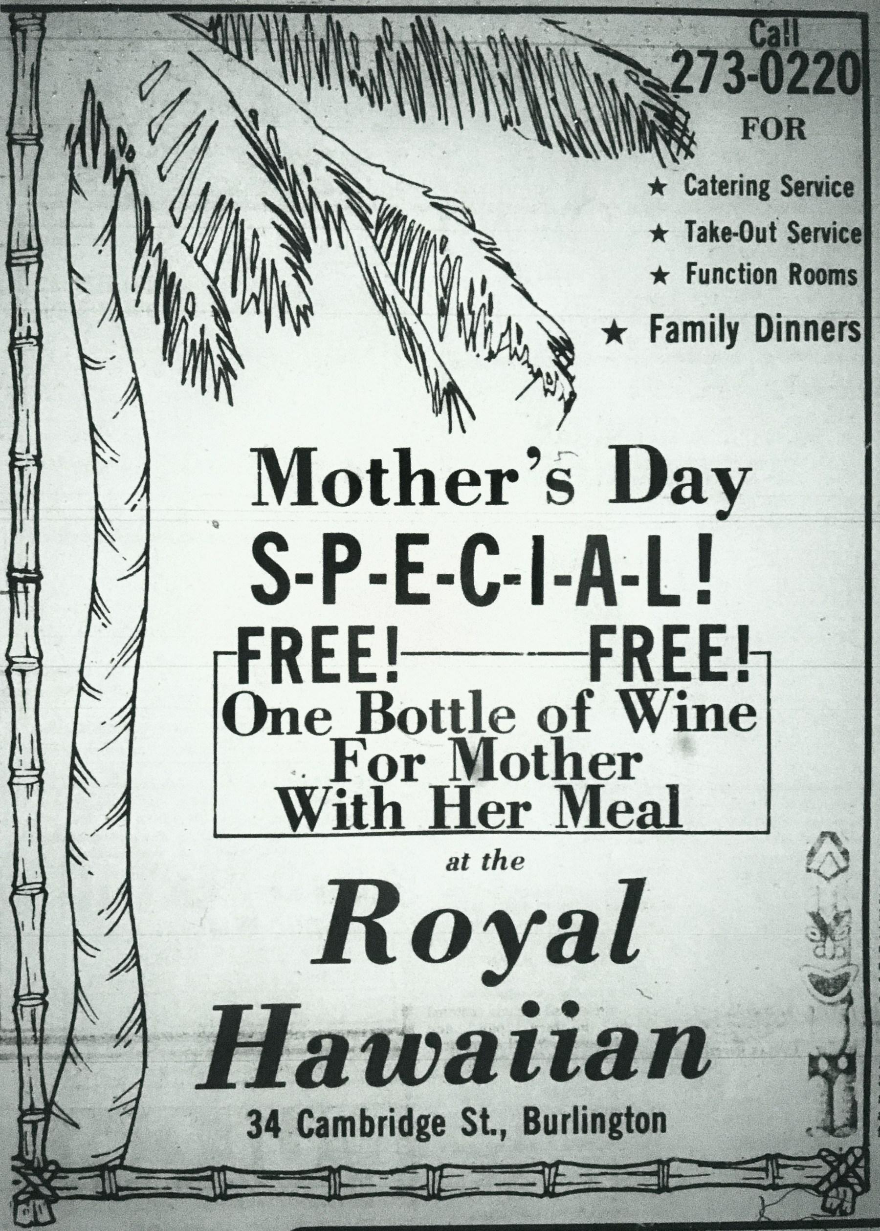 Royal Hawaiian, Burlington MA