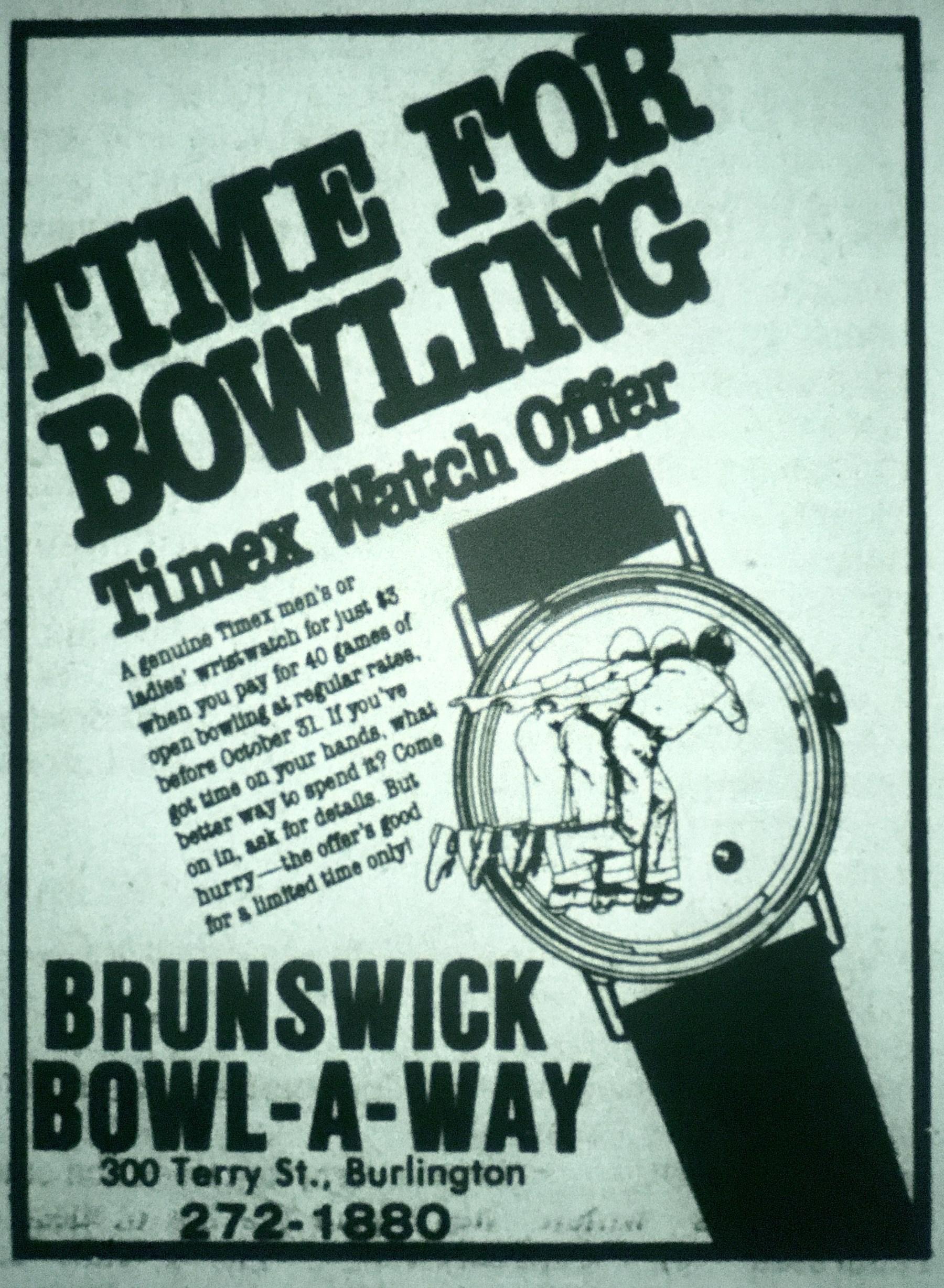 Brunswick Bowl-A-Way lanes, Burlington MA