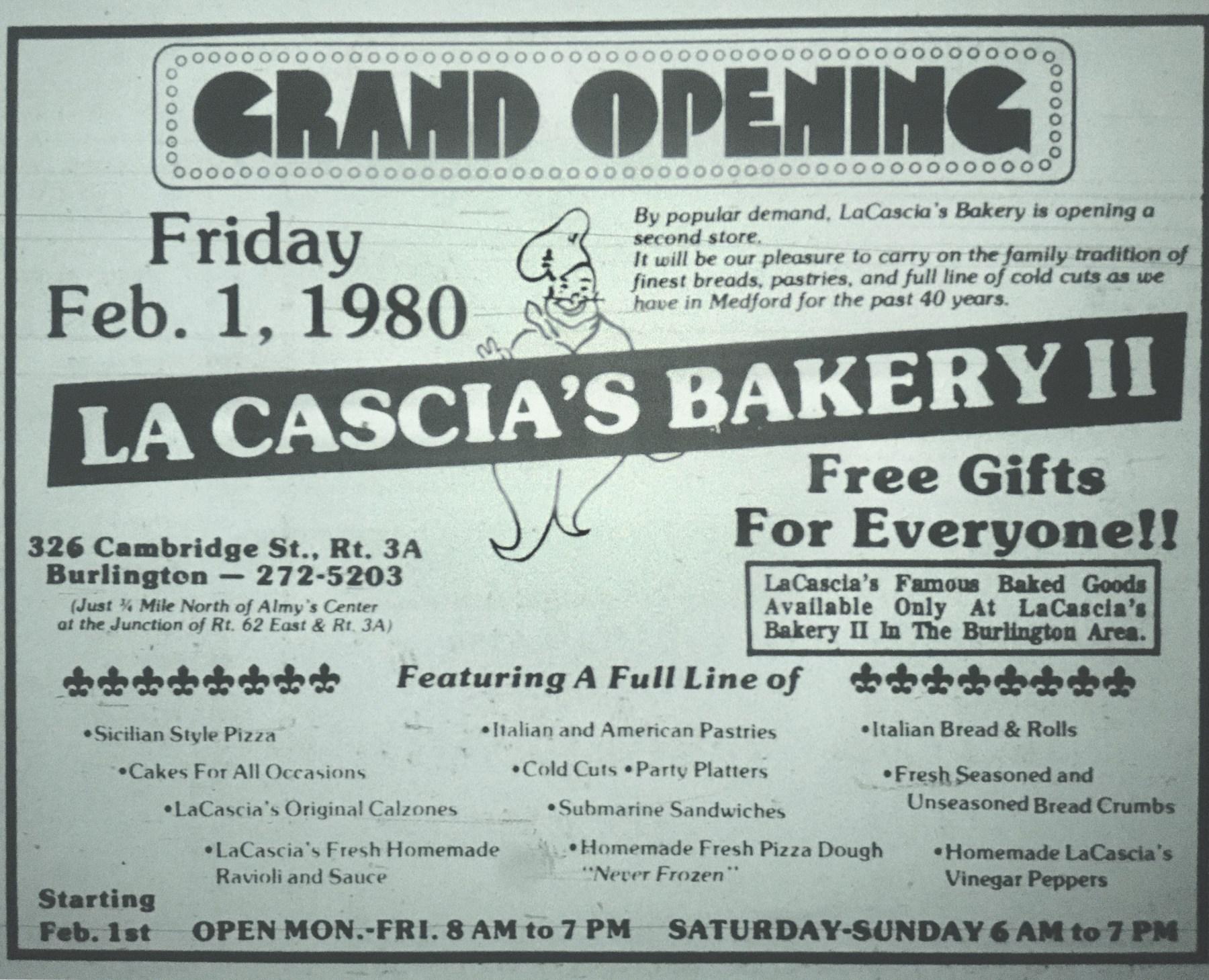 La Cascia's Bakery II, Burlington MA