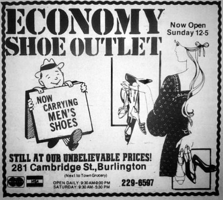 Economy Shoe Outlet, Burlington MA