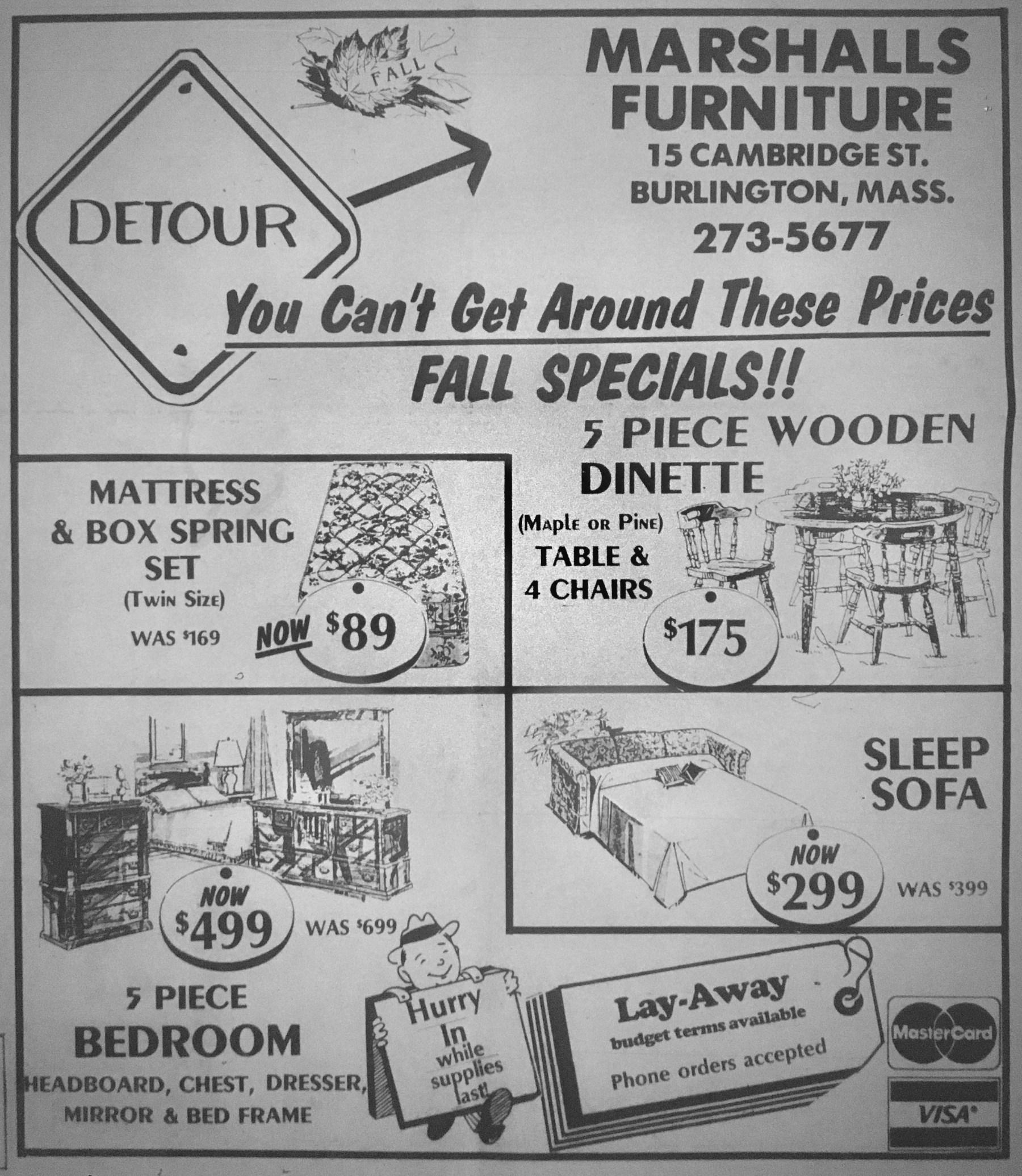 Marshalls Furniture, Burlington MA