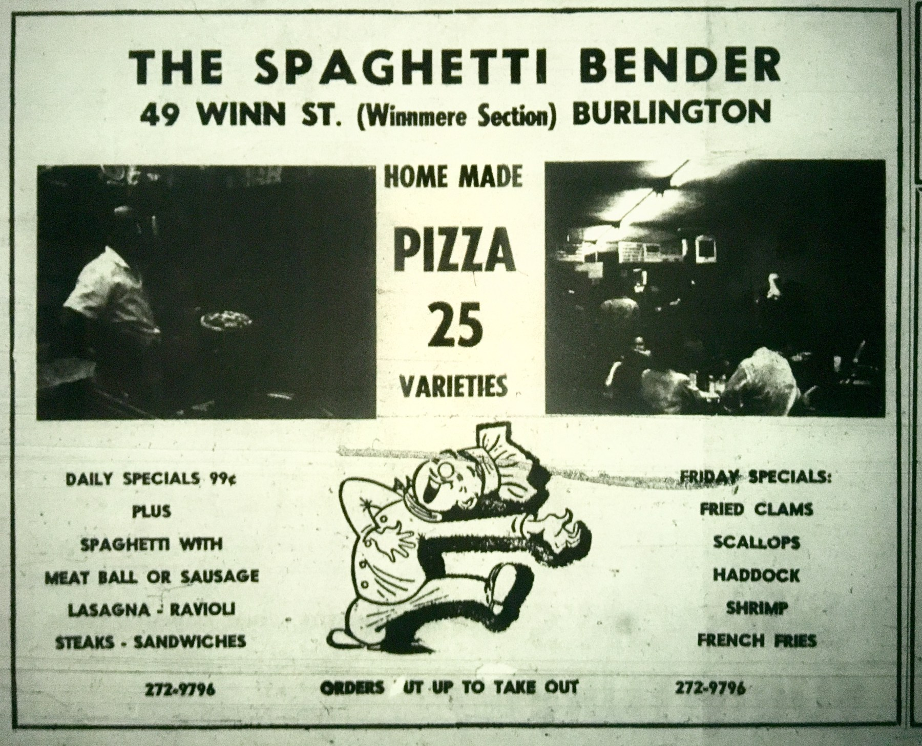 The Spaghetti Bender, Burlington MA