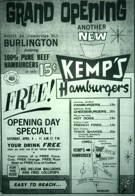 Kemp's Burlington MA