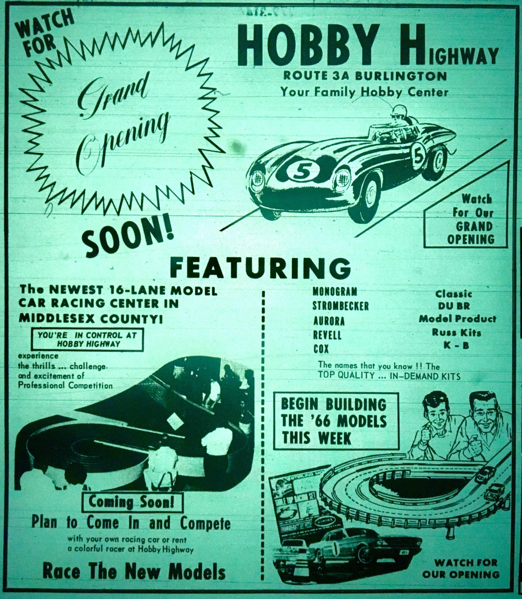 Hobby Highway, Burlington MA