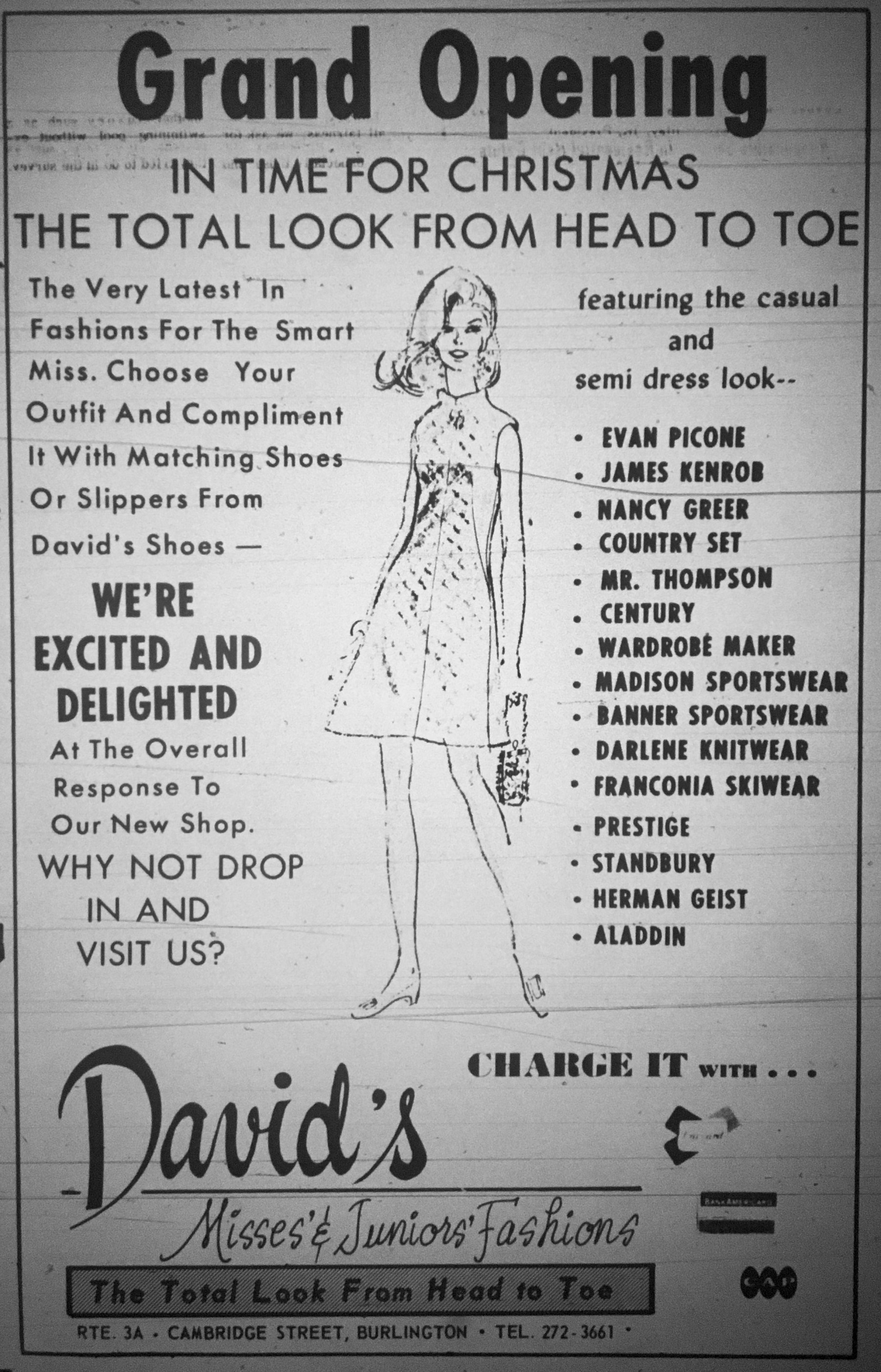 David's fashions Burlington MA
