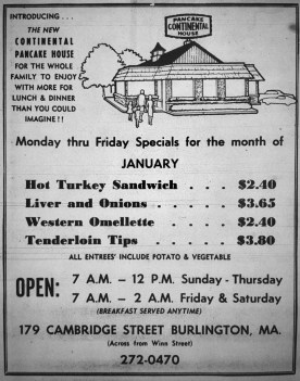 Continental Pancake House, Burlington MA