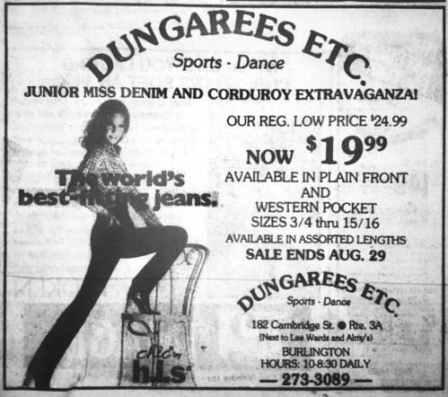Dungarees Etc. Burlington MA