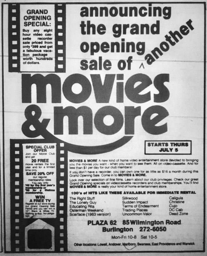 Movies & More Burlington MA