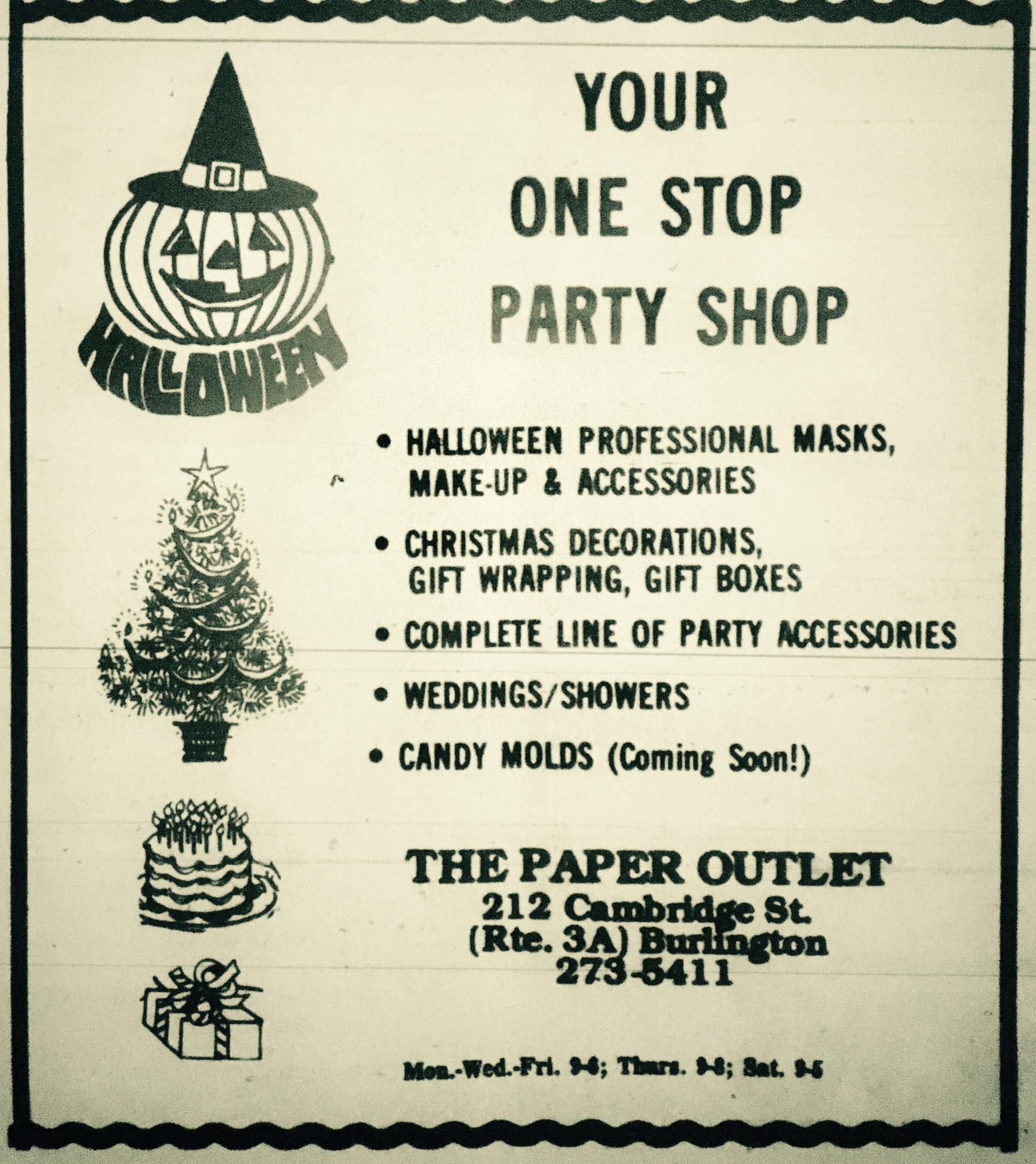 Paper Outlet, Burlington MA