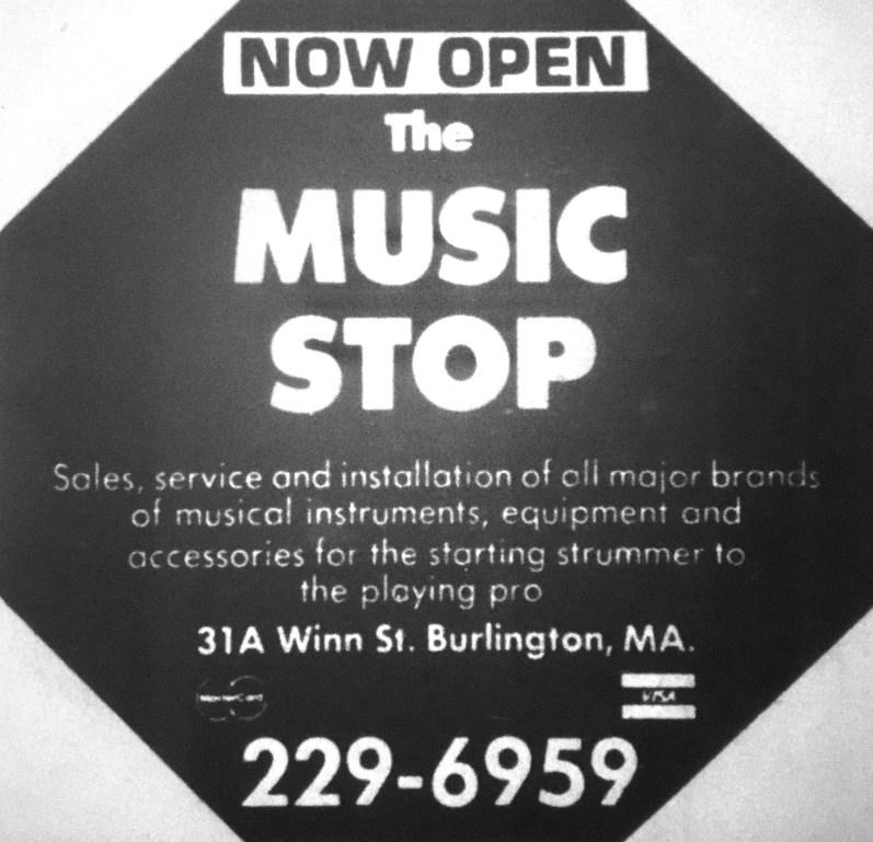 Music Stop, Winn St., Burlington MA