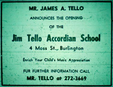 James Tello Accordian School, Burlington mA