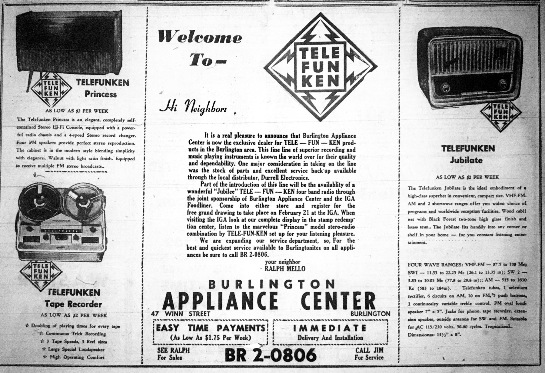 Burlington Appliance Center, Burlington MA