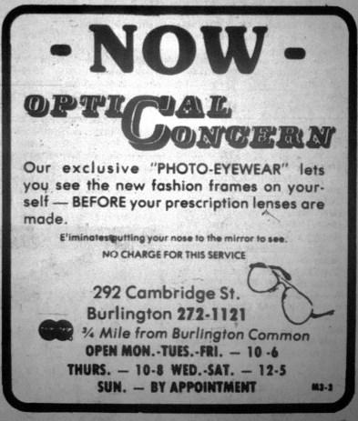 Optical Concern, Burlington MA