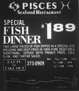 Pisces Seafood Restaurant, Burlington MA
