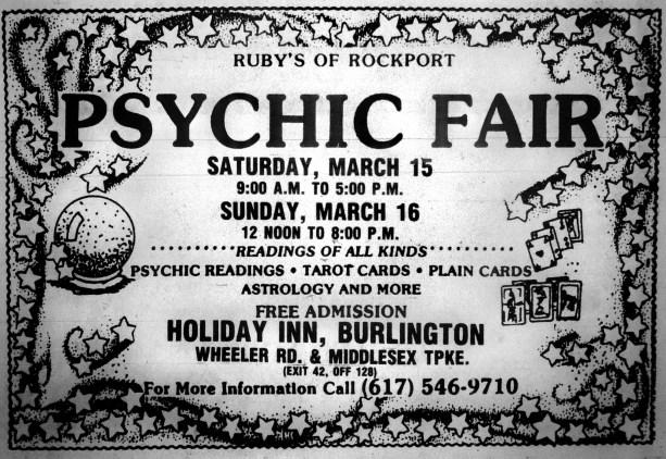 Psychic Fair, Holiday Inn, Burlington MA