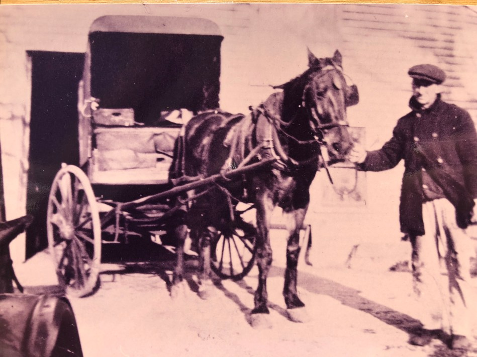 Bustead's Dairy delivery, um, truck