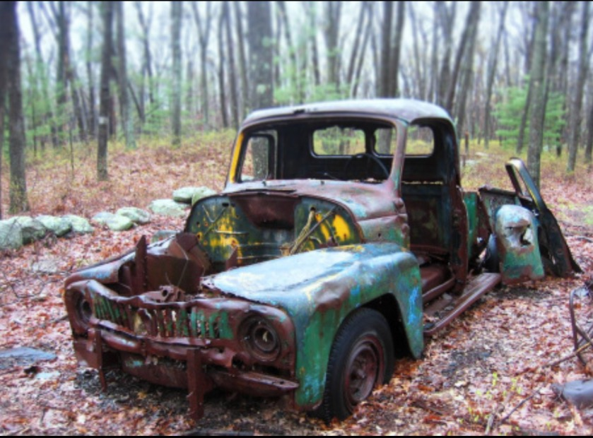 Early 1950s International Pickup behind Chandler Rd., Burlington MA