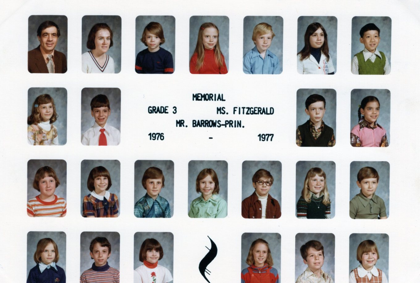 1976 Memorial School Burlington MA Ms. Fitzgerald