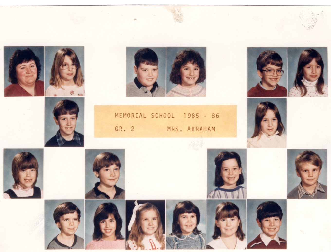 1985 Memorial School Burlington Abraham