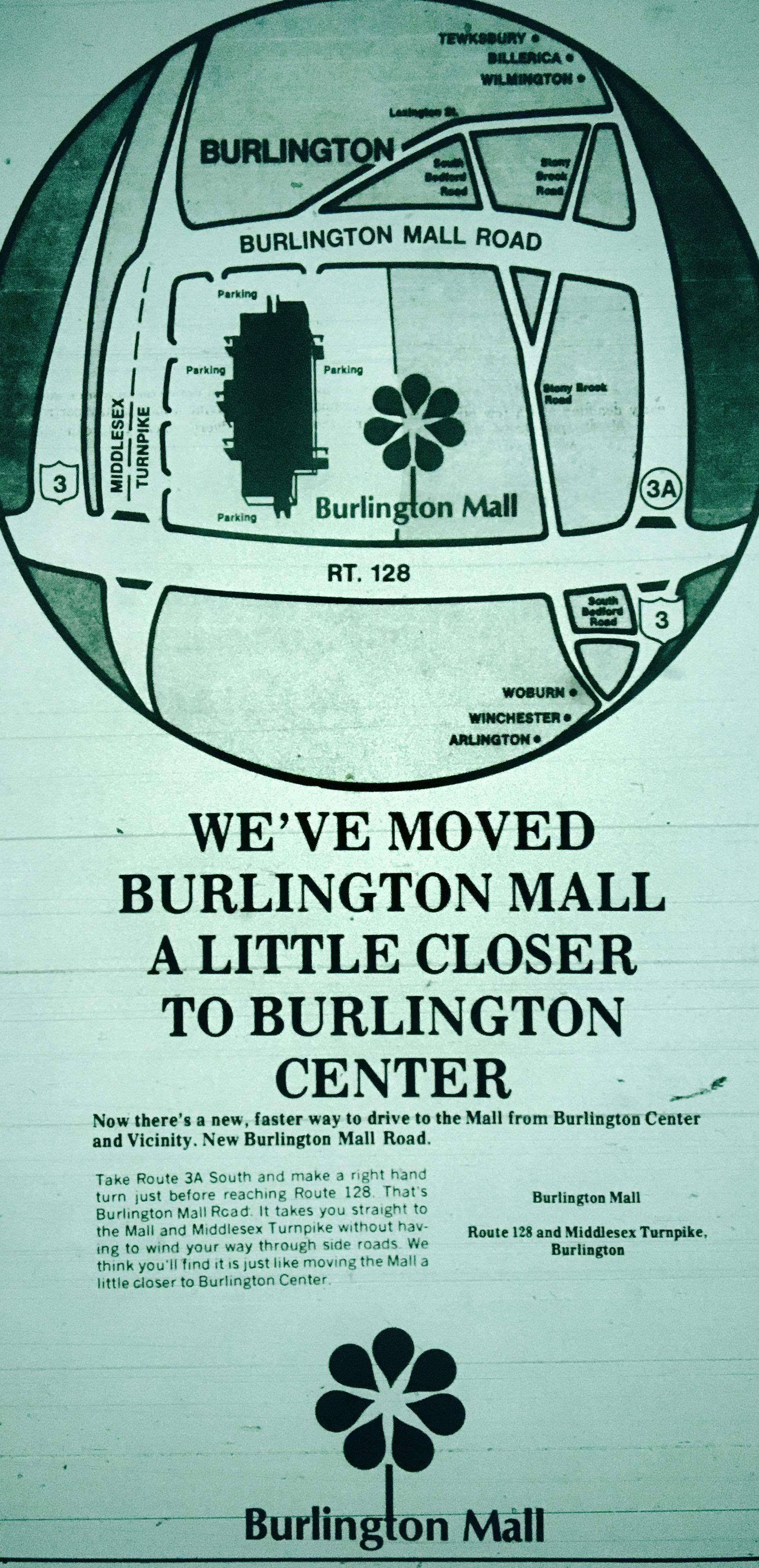 Mall Road ad, Burlington MA