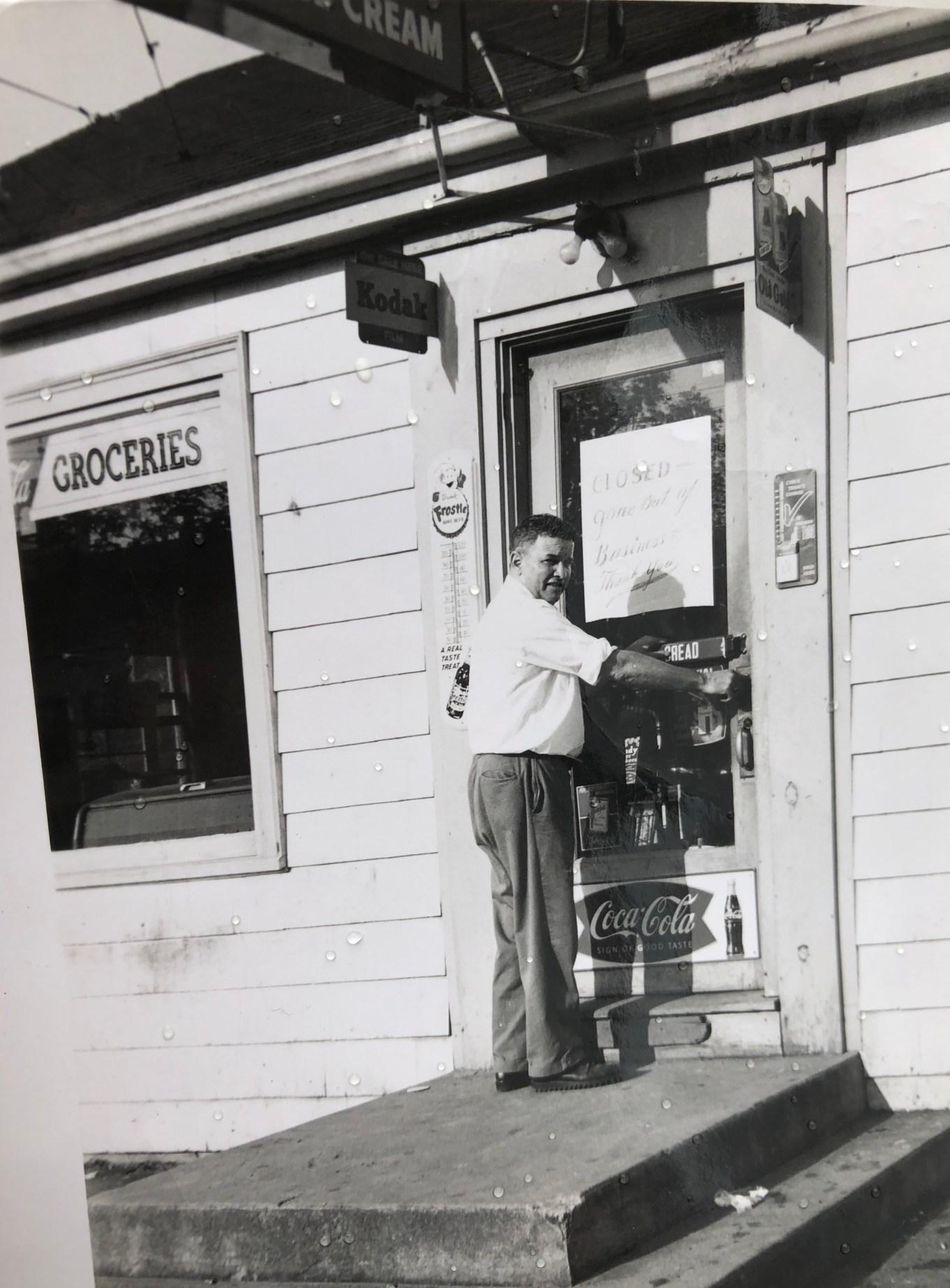 Carpenter's store, last day, Burlington MA