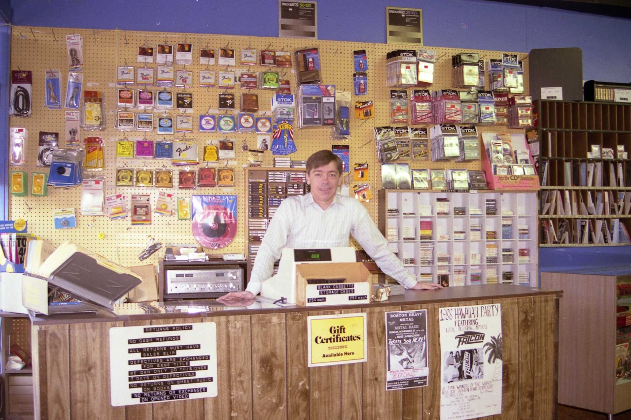 Jim Hart, Music Shoppe, Burlington MA