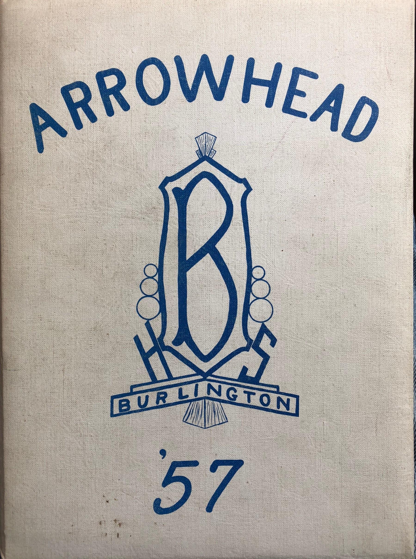 Burlington High School yearbook cover 1957