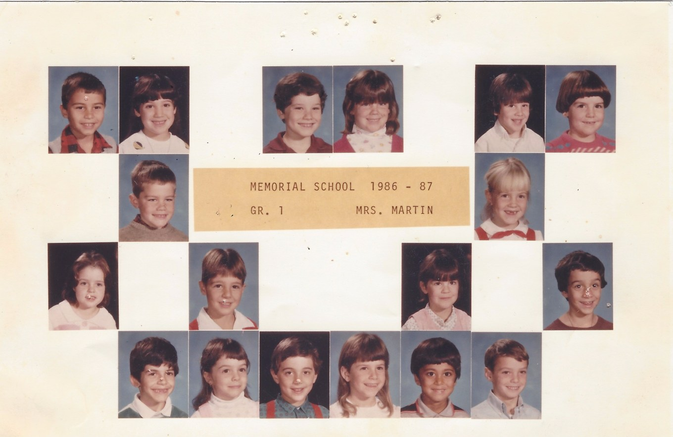 Memorial School 1986 Mrs. Martin, Burlington MA